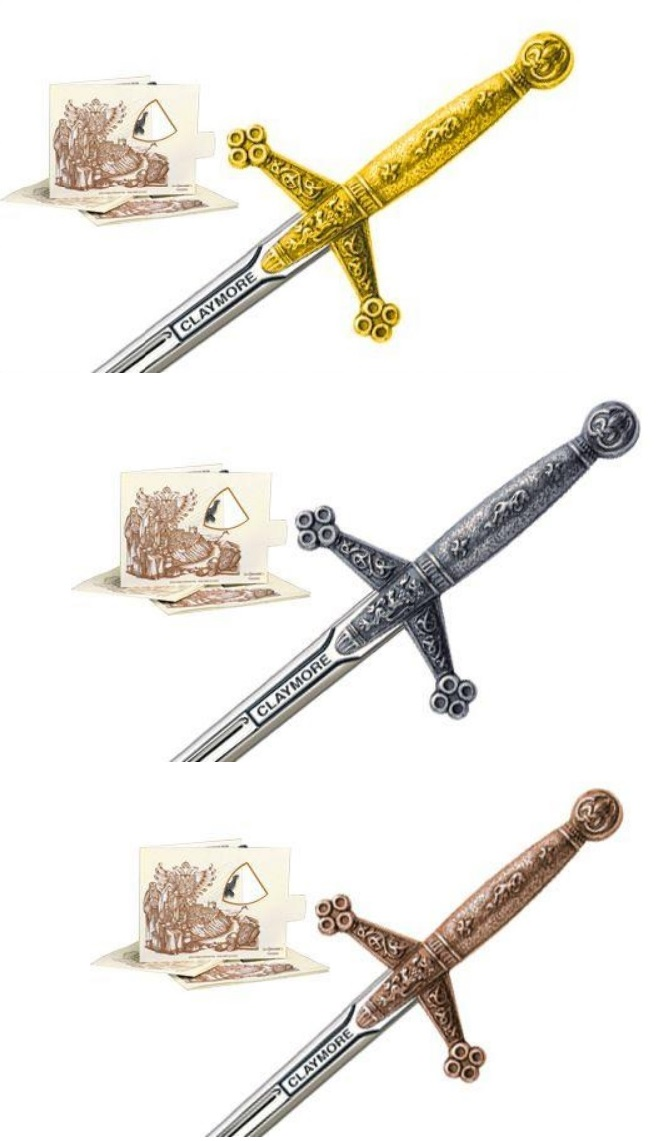 Miniature Claymore Swords